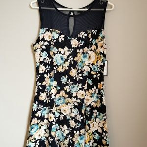 *2/$12* Sears BNWT Blue Floral Dress